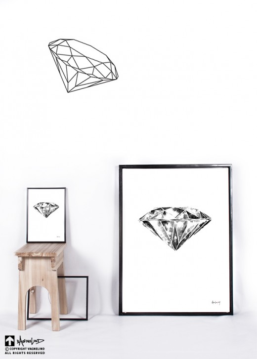 art ink object diamond interior