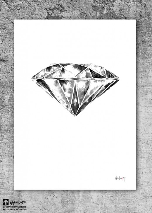 art ink object diamond print