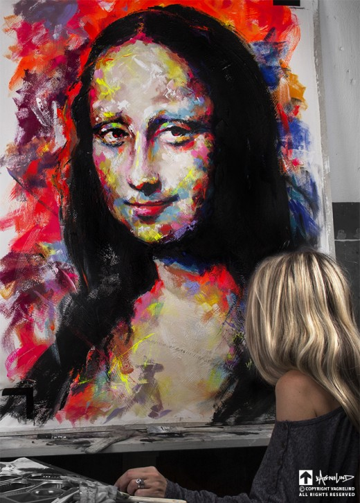 art vagnelind painting of monalisa