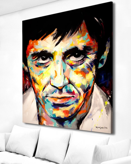 art acrylic original painting of al pacino by vagnelind