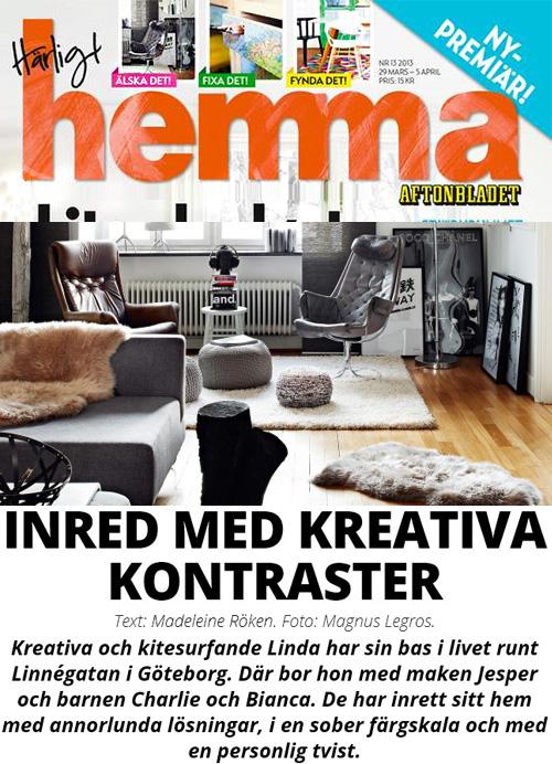 VAGNELIND hemma hos reportage i Härligt Hemma Aftonbladet