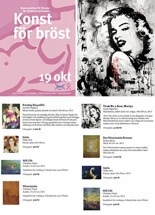 VAGNELIND art såldes på auktion till förmån för Konst för Bröst