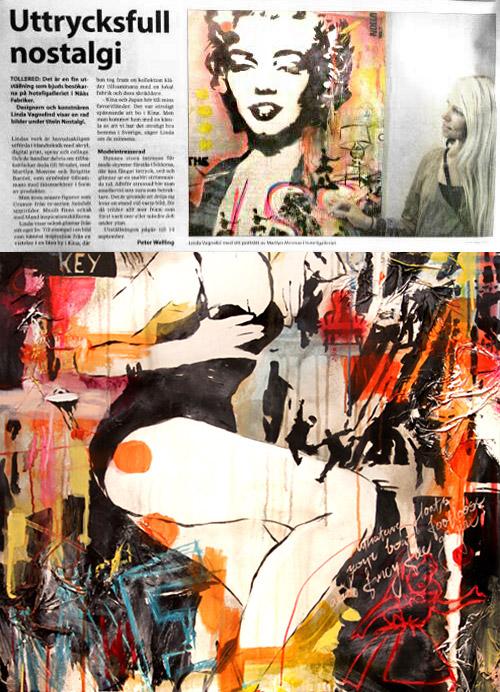 VAGNELIND konstutställning omnämd i Lerumstidningen