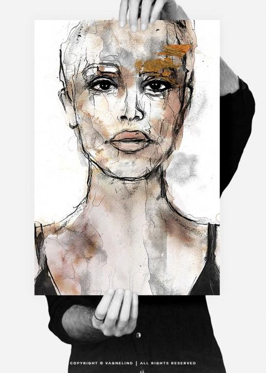 vagnelind art ink portrait gold women - guardian