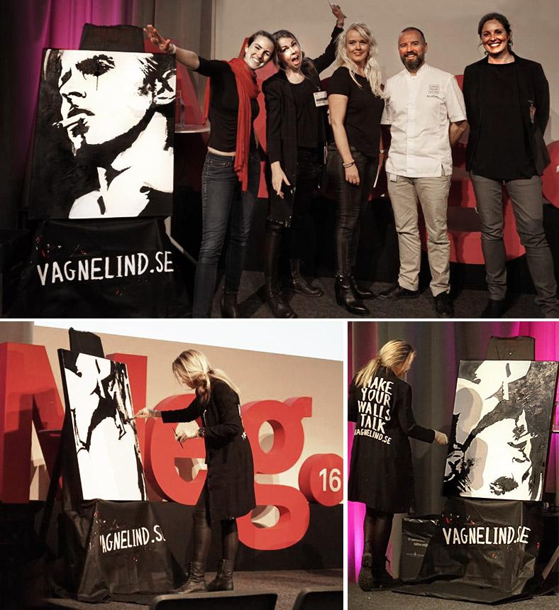 Vagnlined målad Bowie live på Meg mässan i Göteborg