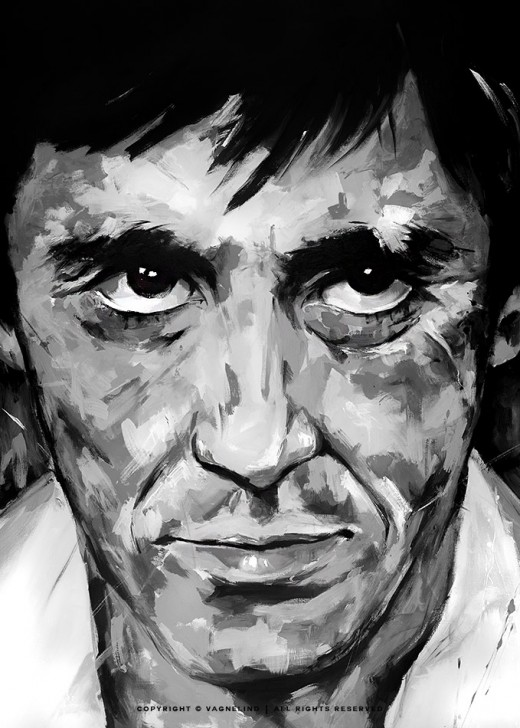 portrait of al pacino made by swedish artist VAGNELIND