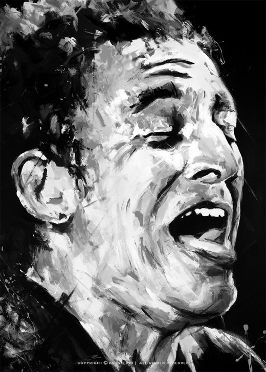 portrait of bruce springsteen made by swedish artist VAGNELIND