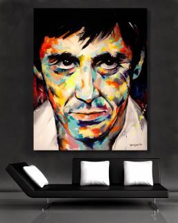 art acrylic original painting of al pacino by vagnelind