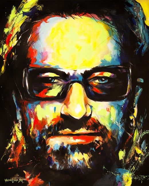 portrait bono by vagnelind exhibited at eurovision song contest 2013
