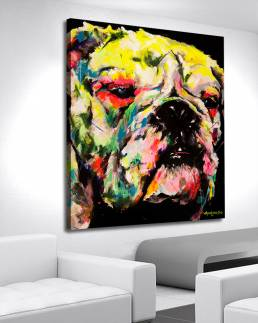 art portrait of a dog by vagnelind exhibited at eurovision song contest 2013