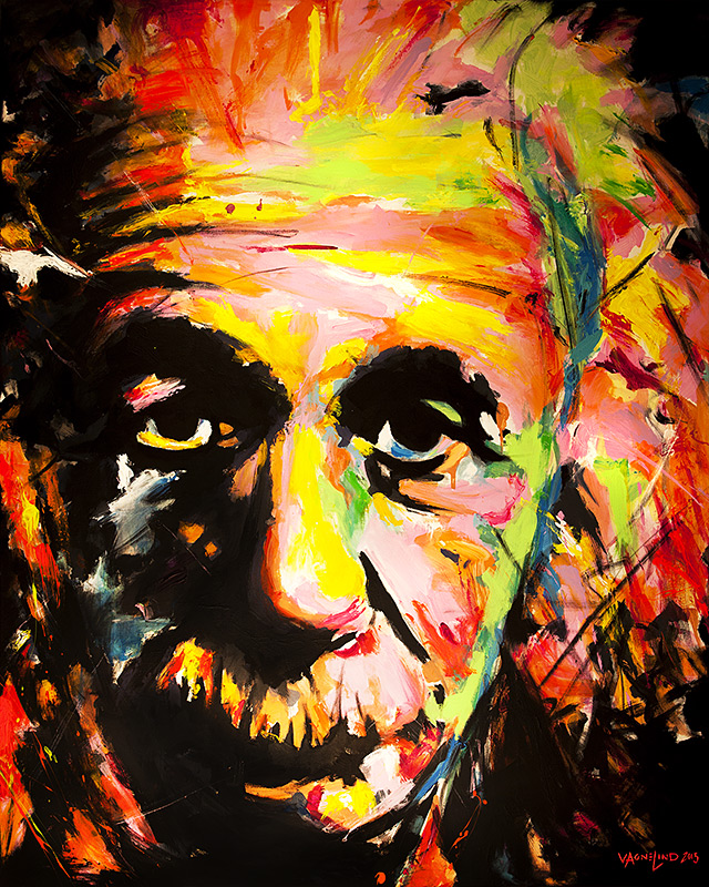 art portrait of a einstein by vagnelind exhibited at eurovision song contest 2013