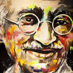portrait of Gandhi by vagnelind exhibited at eurovision song contest 2013