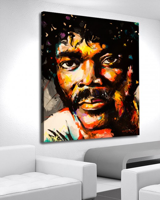 art acrylic original painting of samuel l jackson by vagnelind