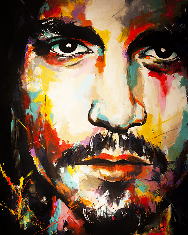 portrait of Johnny depp by vagnelind exhibited at eurovision song contest 2013