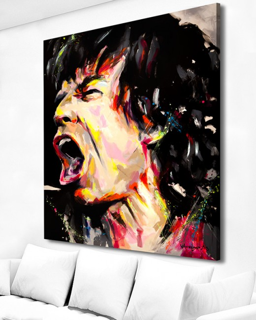 art acrylic original painting of mick jagger by vagnelind