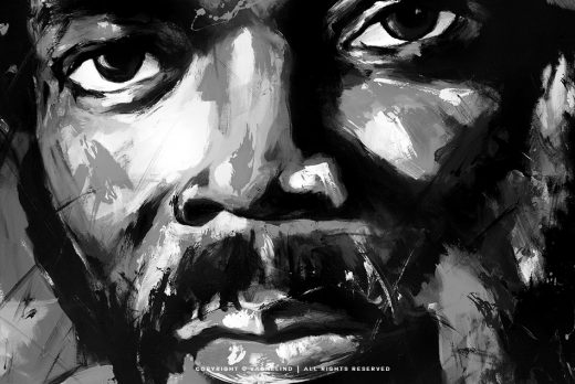 portrait of samuel l jackson made by swedish artist VAGNELIND