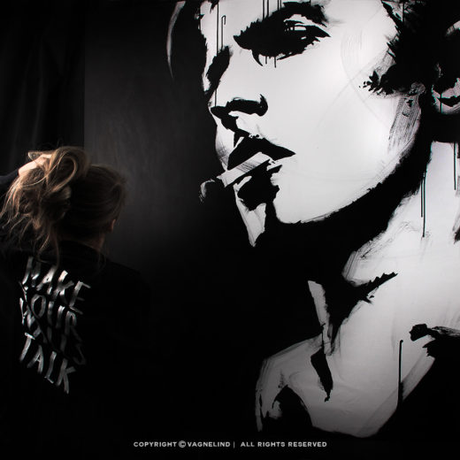 vagnelind painting david bowie live upside down in ten minutes