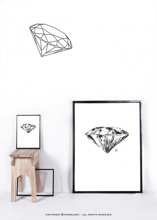 vagnelind art diamond print in limited edition