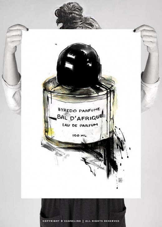 parfume art - Byredo Bal d'Afrique - artist vagnelind