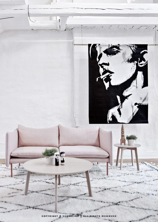 vagnelind portrait of david bowie printed on large format wallhanging - Bloodstream