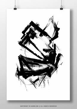 art made by swedish artist VAGNELIND - INK-ELEVEN