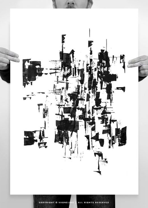 abstract art made by swedish artist VAGNELIND - INK-FIVE