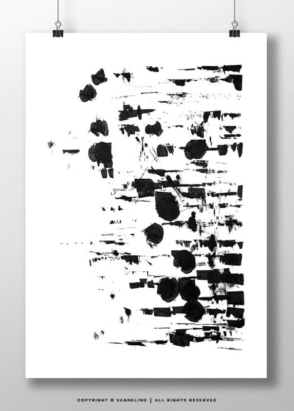 black and white art made by swedish artist VAGNELIND - INK FOUR