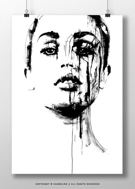 Black And White Art Made By Swedish Artist VAGNELIND   TRUTH