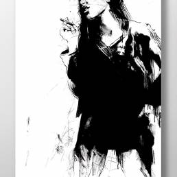 black and white art made by swedish artist VAGNELIND - PUNSCH