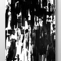 black and white art made by swedish artist VAGNELIND - INK THREE