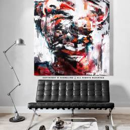 portrait of a man made by swedish artist VAGNELIND - CIRCO