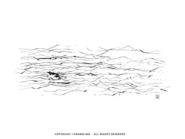 vagnelind art - kalla bad - waves