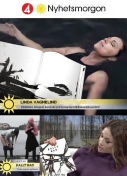 vagnelind konstnär och fotograf till boken kalla bad i tv4 nyhetsmorgon