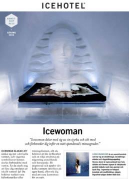 vagnelind konstnär bygger svit på icehotel