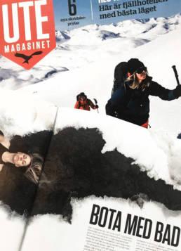 vagnelind konstnär och fotograf i tidningen ute magasinet om kalla bad
