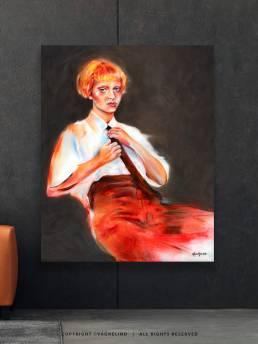 VAGNELIND Oil Painting - AMBER