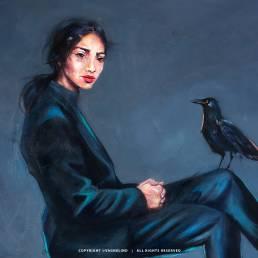Original art by artist VAGNELIND - Oil painting FALA