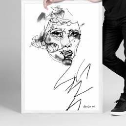 VAGNELIND Original Art - Line Bozetto - Amber