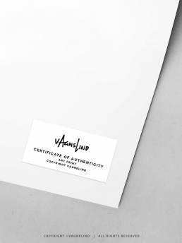VAGNELIND Authenticity Art Print