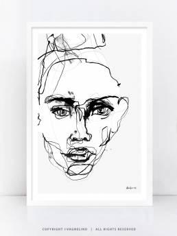 VAGNELIND Art print - Line Bozetto - Phenomena
