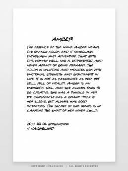 VAGNELIND Art print - story - Amber