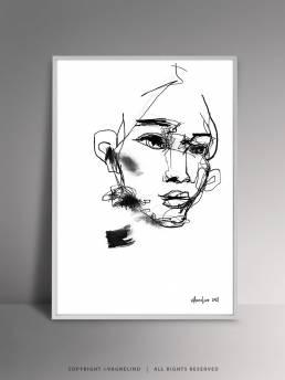 VAGNELIND Original Art - Line Bozetto - Fala