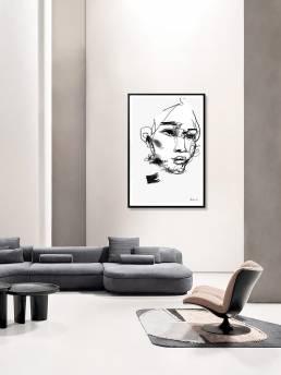 VAGNELIND Art print - Line Bozetto - Fala