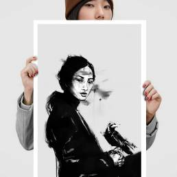 VAGNELIND Art print - Ink Modello - Fala