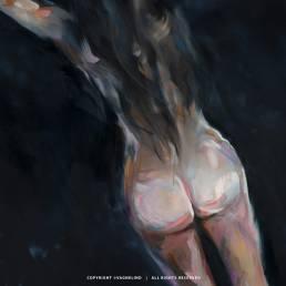 VAGNELIND Oil Painting - FLOATING