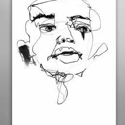VAGNELIND Original Art - Line Bozetto - Kali