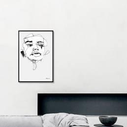 VAGNELIND Art print - Line Bozetto - Kali