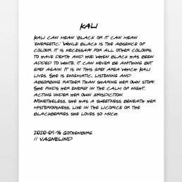 VAGNELIND Art print - story - Kali