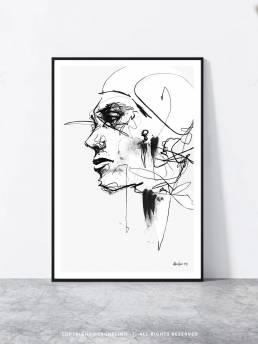 VAGNELIND Art print - Line Bozetto - Narellan