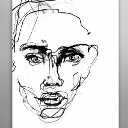 VAGNELIND Original Art - Line Bozetto - Phenomena